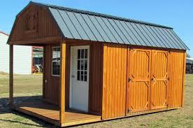 Stained Lofted Barn Front Porch